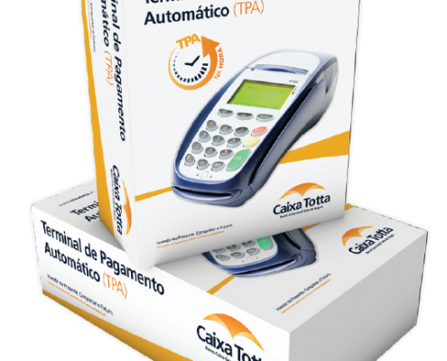 Banco Caixa Totta de Angola | TPA na Hora | Packaging